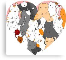 A heart full of cats Metal Print