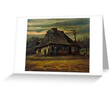 1885-Vincent van Gogh-The cottage-65,5x79 Greeting Card