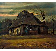 1885-Vincent van Gogh-The cottage-65,5x79 Photographic Print