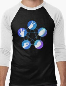 The Big Bang Theory rock-paper-scissors-lizard-Spock Men's Baseball ¾ T-Shirt