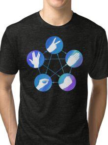 The Big Bang Theory rock-paper-scissors-lizard-Spock Tri-blend T-Shirt