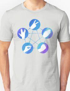 The Big Bang Theory rock-paper-scissors-lizard-Spock T-Shirt