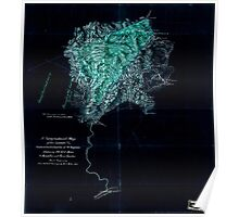 117 A topographical map of the lands of the Cabin Creek Coal Co of W Virginia embracing 14 307 acres in Kanawha and Boone counties West Virginia Inverted Poster