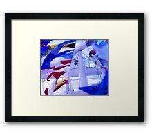 ship flags Framed Print