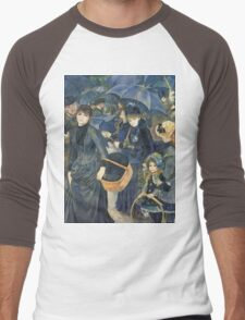 Renoir Auguste - The Umbrellas. Auguste Renoir Umbrellas Men's Baseball ¾ T-Shirt