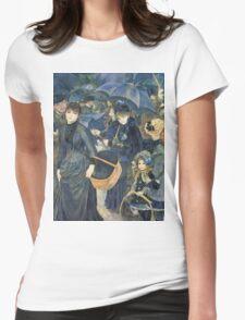 Renoir Auguste - The Umbrellas. Auguste Renoir Umbrellas Womens Fitted T-Shirt