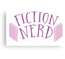FICTION NERD with books Canvas Print