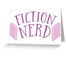 FICTION NERD with books Greeting Card
