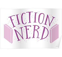 FICTION NERD with books Poster