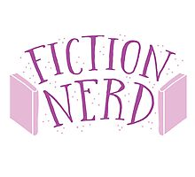 FICTION NERD with books Photographic Print