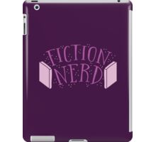 FICTION NERD with books iPad Case/Skin