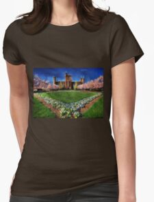 Spring Blooms in the Smithsonian Castle Garden Womens Fitted T-Shirt