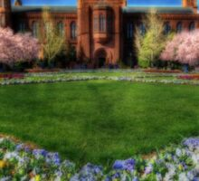 Spring Blooms in the Smithsonian Castle Garden Sticker