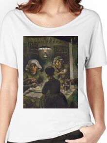 1885-Vincent van Gogh-The potato eaters Women's Relaxed Fit T-Shirt