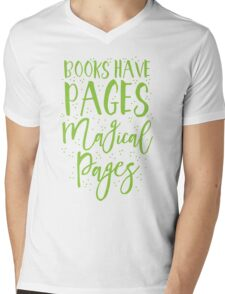 Books have pages, Magical pages Mens V-Neck T-Shirt