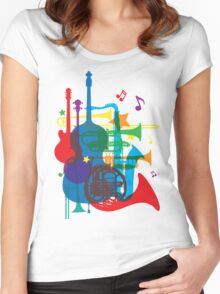 Jazz instruments Women's Fitted Scoop T-Shirt