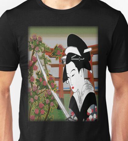 Geisha pruning roses Unisex T-Shirt