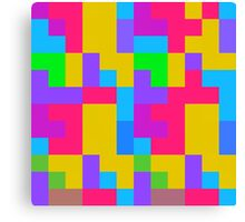 Colorful tetris shapes Canvas Print