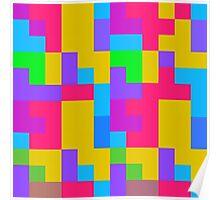 Colorful tetris shapes Poster