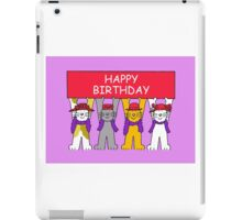 Red Hat cats iPad Case/Skin
