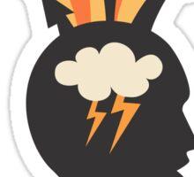 Brainstorming creativity sticker Sticker
