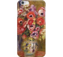 Renoir Auguste - Vase Of Tulips And Anemones iPhone Case/Skin