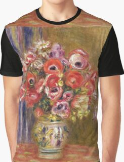 Renoir Auguste - Vase Of Tulips And Anemones Graphic T-Shirt