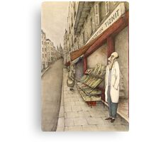 Montmartre Drawing Canvas Print