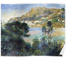 Renoir Auguste - View From Cap Martin Of Monte Carlo Poster