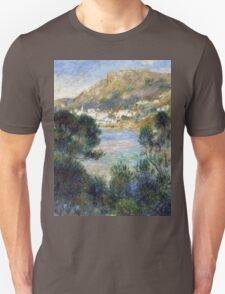 Renoir Auguste - View From Cap Martin Of Monte Carlo Unisex T-Shirt