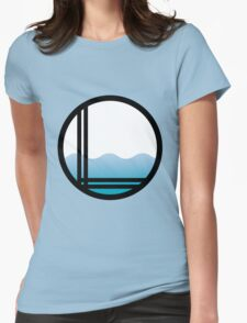 Lonely Ocean Logo Womens Fitted T-Shirt