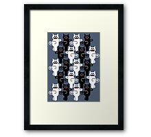MARCHING CATS Framed Print