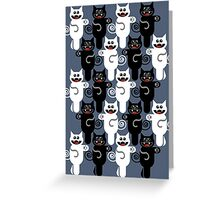 MARCHING CATS Greeting Card