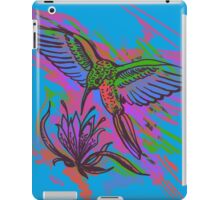 Hummingbird hand drawing bright illustration. Neon colors iPad Case/Skin