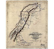 247 Sketch of routes of the 2nd Corps AN Virginia from Fredericksburg Va to Gettysburg Pa and return to Orange CH Va June 4th to August 1st 1863 Photographic Print
