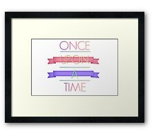 Once upon a fancy time Framed Print