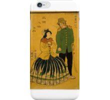 Kuniaki Hirasawa - Americans - 1861 - Woodcut iPhone Case/Skin