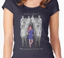 Consider - Me, my brother, his friends Women's Fitted Scoop T-Shirt