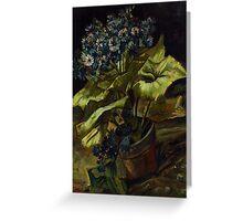 1886-Vincent van Gogh-Cineraria-45,5x54,5 Greeting Card