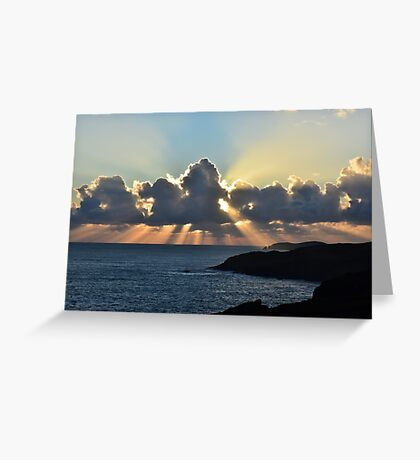 And the sunbeams touch the sea Greeting Card