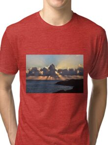 And the sunbeams touch the sea Tri-blend T-Shirt