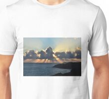And the sunbeams touch the sea Unisex T-Shirt