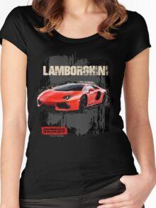 NEW Men's Lamborghini Sports Car T-Shirt Women's Fitted Scoop T-Shirt