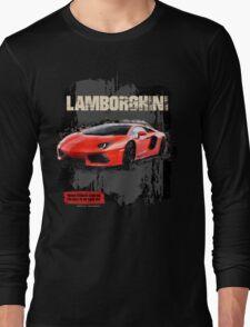 NEW Men's Lamborghini Sports Car T-Shirt Long Sleeve T-Shirt