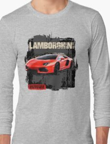NEW Men's Lamborghini Sports Car T-Shirt Long Sleeve T-Shirt