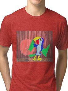Myrtle The Parrot Recites A Poem Tri-blend T-Shirt