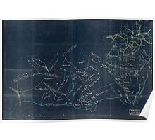 076  Sketch map of the vicinity of Roanoke Virginia Inverted Poster