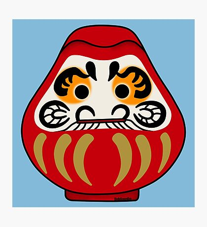 Cute Daruma doll Photographic Print