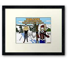 """Morzine """" where winter sports mix with love """" Framed Print"""