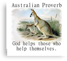 God Helps Those - Australian Proverb Canvas Print